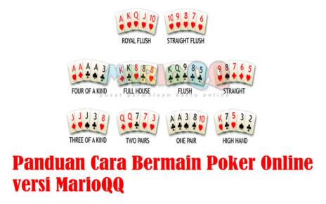 panduan cara bermain poker online