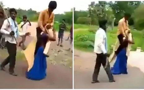 Viral Wanita Ini Di Hukum Gendong Suaminya Keliling Kampung